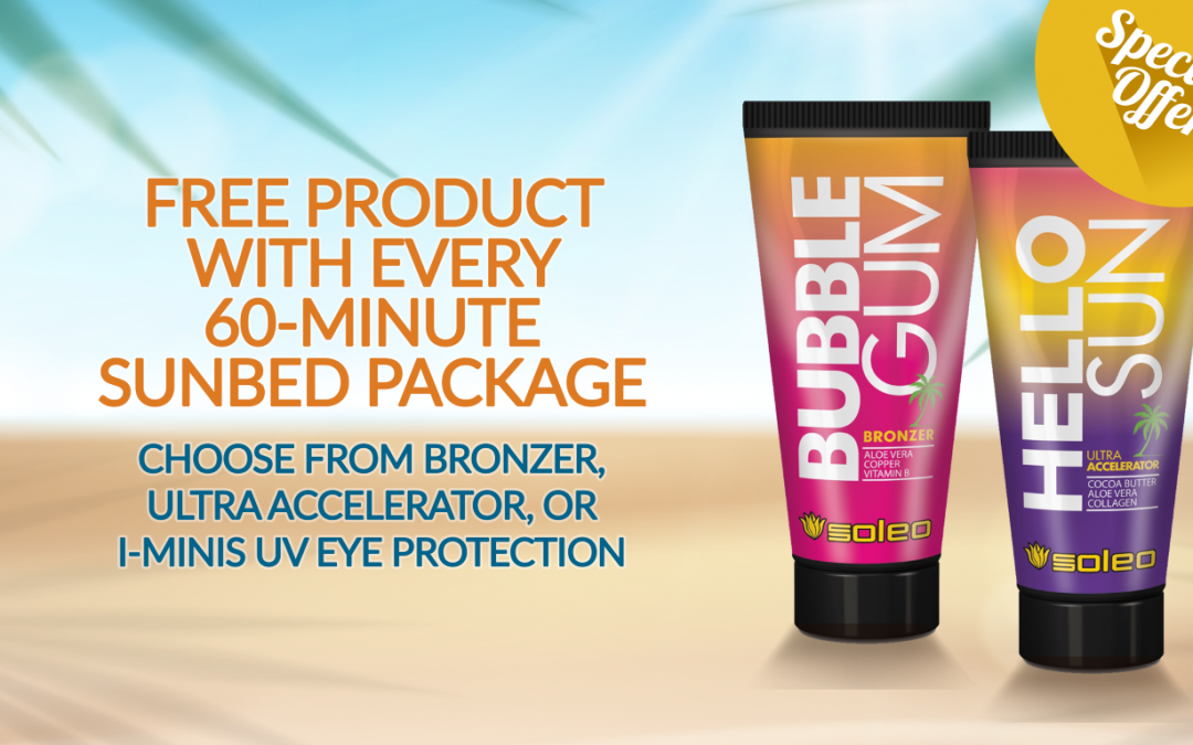 Free Tanning Product With Every 60-minute Sunbed Package