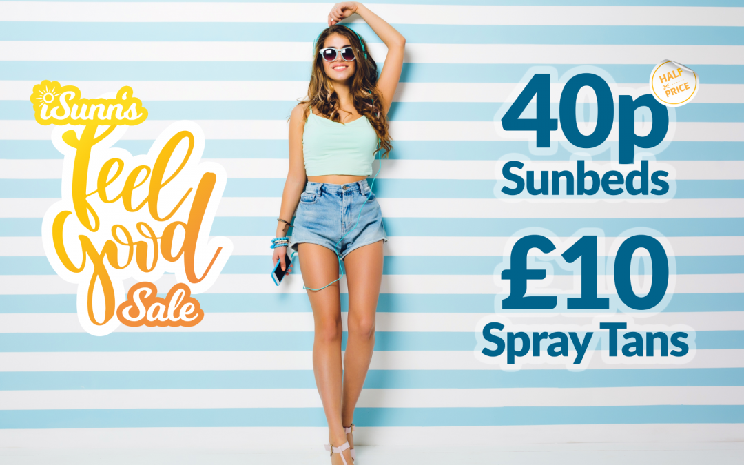 40p Sunbeds and £10 Spray Tans in iSunn's Feel Good Sale