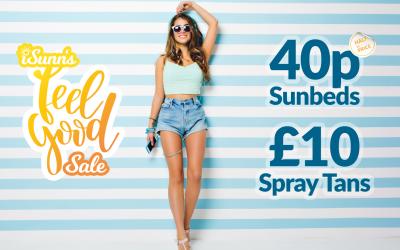 40p Sunbeds and £10 Spray Tans in iSunn's Feel Good Sale